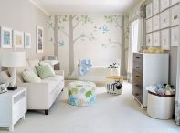 Modern Baby Nursery Rooms Ideas with Simple and Colorful Concepts with Pattern and Unique Baby Crib Design Part 9