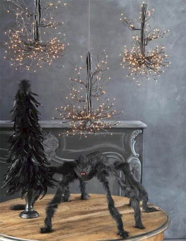 Mystical Halloween Lighting Ideas with Spellbinding candle and light string effect Part 22