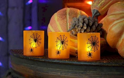 Mystical Halloween Lighting Ideas with Spellbinding candle and light string effect Part 30