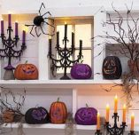 Mystical Halloween Lighting Ideas with Spellbinding candle and light string effect Part 37