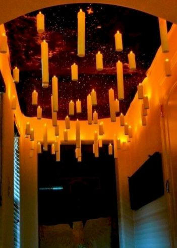 Mystical Halloween Lighting Ideas with Spellbinding candle and light string effect Part 40