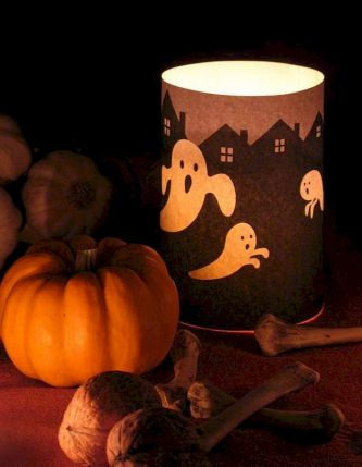Mystical Halloween Lighting Ideas with Spellbinding candle and light string effect Part 50