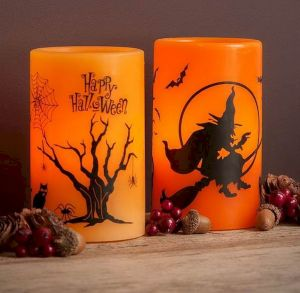 Mystical Halloween Lighting Ideas with Spellbinding candle and light string effect Part 54