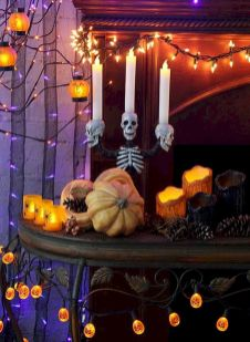 Mystical Halloween Lighting Ideas with Spellbinding candle and light string effect Part 6