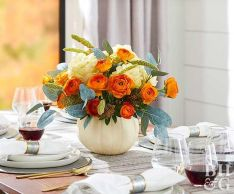 Thanksgiving Celebration Dining Table Centerpieces Idea Part 26