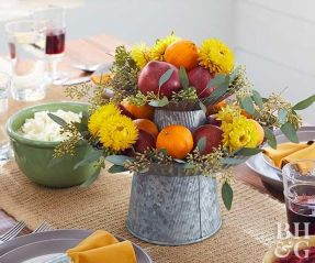 Thanksgiving Celebration Dining Table Centerpieces Idea Part 31