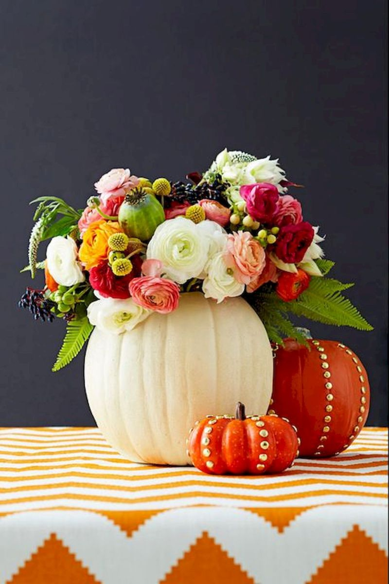 Thanksgiving Celebration Dining Table Centerpieces Idea Part 35