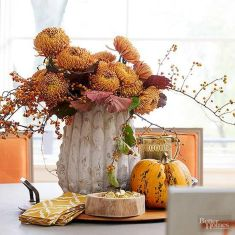 Thanksgiving Celebration Dining Table Centerpieces Idea Part 36