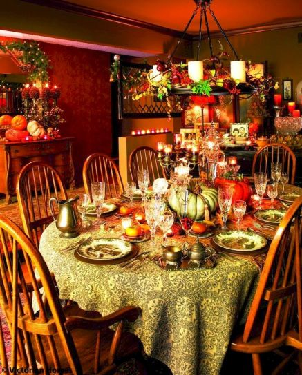 Thanksgiving Celebration Dining Table Centerpieces Idea Part 46