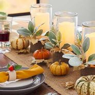 Thanksgiving Celebration Dining Table Centerpieces Idea Part 59
