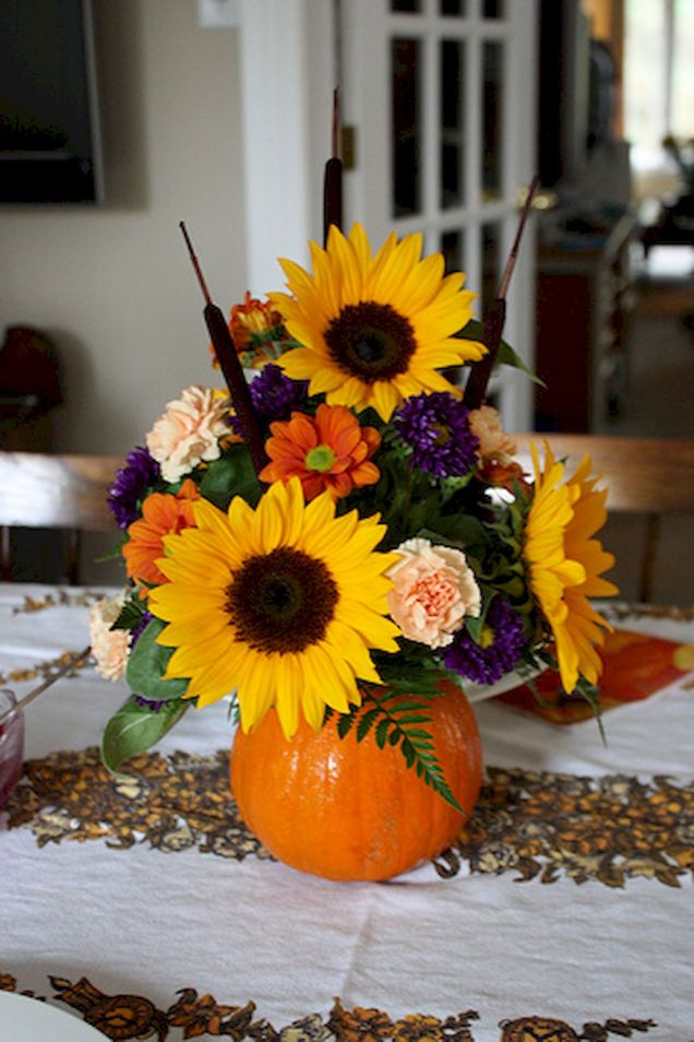 Thanksgiving Floral Arrangement Ideas and Autumn Flowers Decoration Best Used for Thanksgiving centerpiece and Decorations Part 52