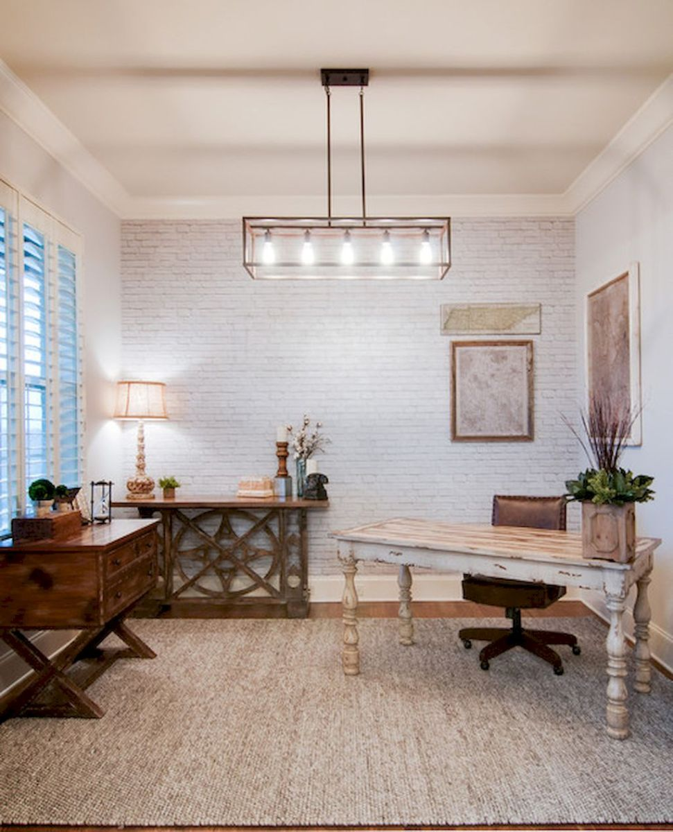 Brilliant Home Office Concept Marrying Farmhouse Design with Modern Touch Part 11