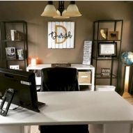 Brilliant Home Office Concept Marrying Farmhouse Design with Modern Touch Part 7