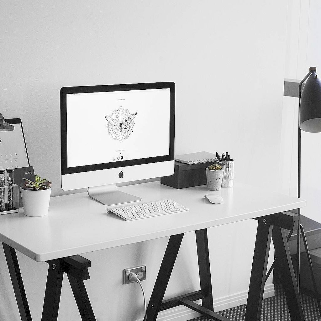 Cozy Home Office Ideas with White Desk Part 1