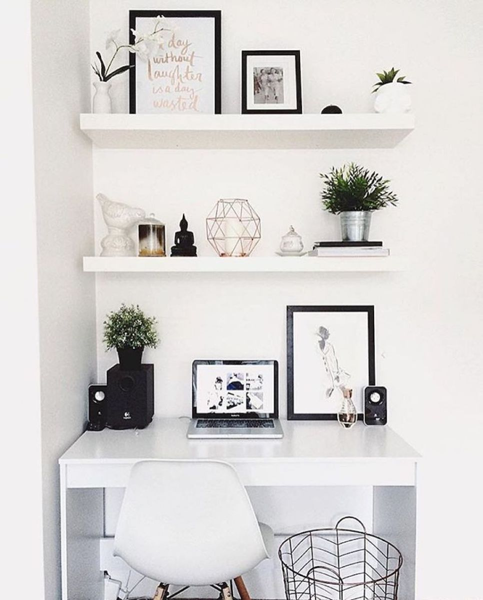 Cozy Home Office Ideas with White Desk Part 5