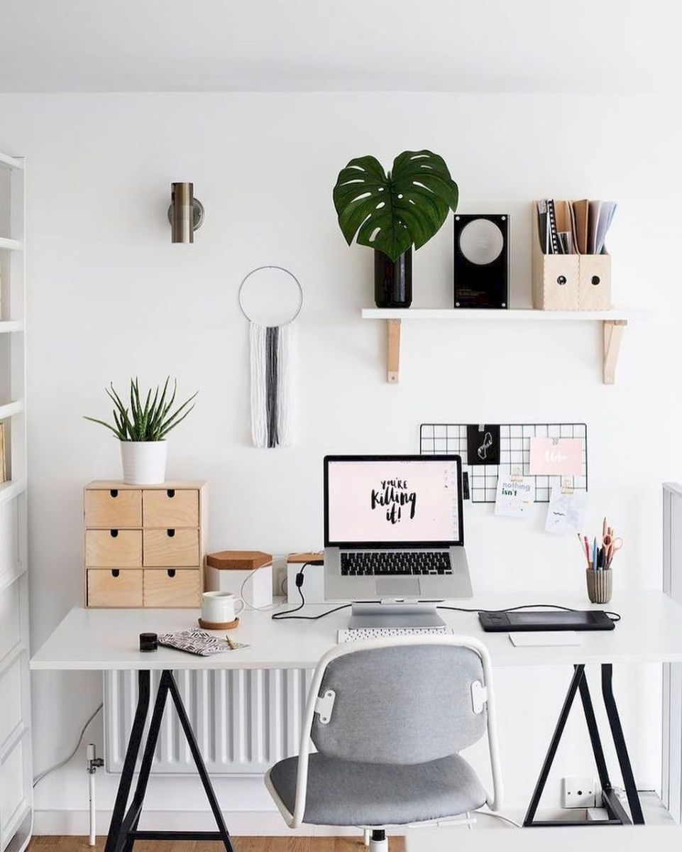 Cozy Home Office Ideas with White Desk Part 6