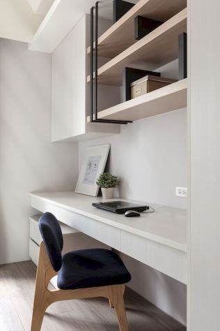 Home Office Designs with White Desk Concept Part 13
