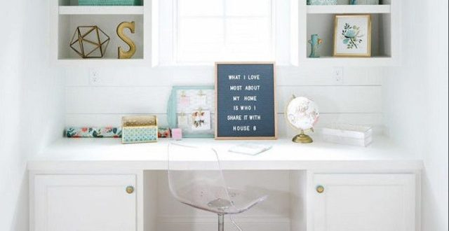 Home Office Designs with White Desk Concept Part 17