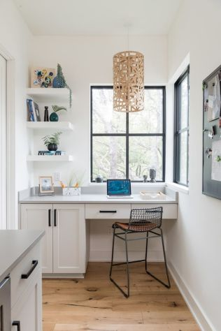 Home Office Designs with White Desk Concept Part 19