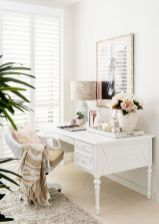 White Desk Ideas for Modern Home Office Design Part 31