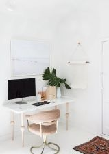 White Desk Ideas for Modern Home Office Design Part 32