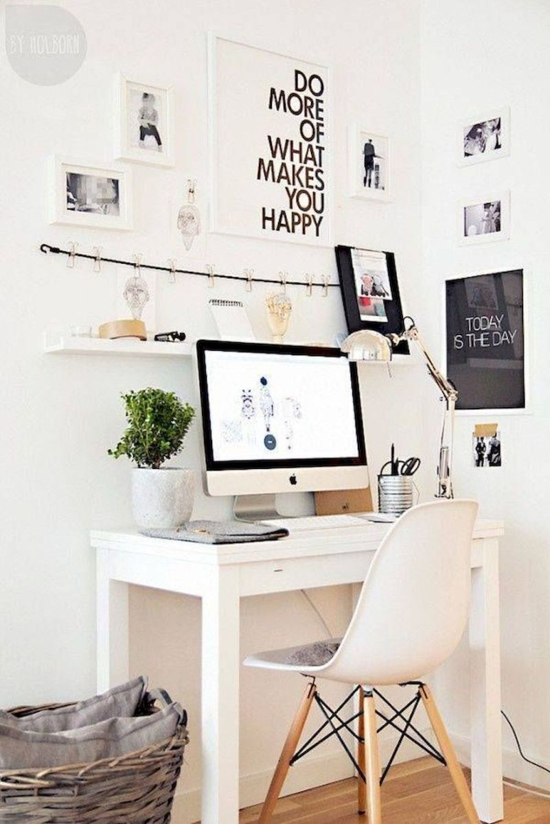 White Desk Ideas for Modern Home Office Design Part 37