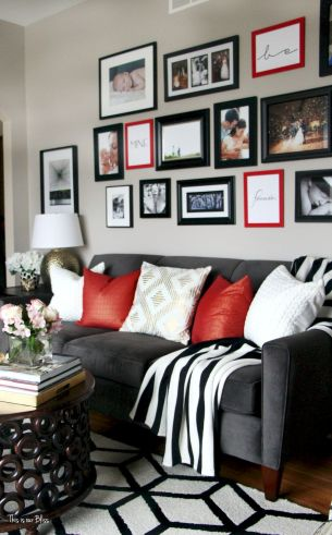 Accent Wall Ideas for Your Stylish Living Room Part 14