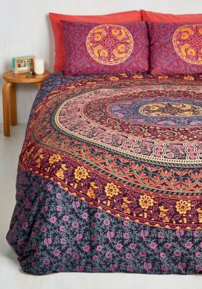 Beautiful Bed Sheet Designs With Tribal Pattern Liven Up Bedroom Looks Part 25