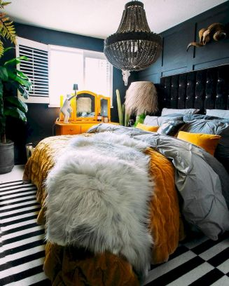 Beautiful Bedroom Designs in Darker Color Combination to Create Deeper Mood Effect Part 14