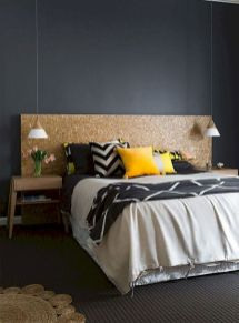 Beautiful Bedroom Designs in Darker Color Combination to Create Deeper Mood Effect Part 7