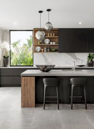 Best Modern Kitchen Design Accentuated by Exotic Wooden Elements Part 10