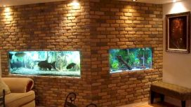 Exotic Wall Mounted Aquarium Giving Better Mood Everyday Part 46