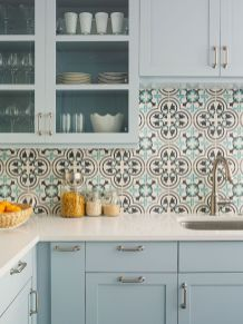 Grey Kitchen Designs With Exciting Kitchen Backsplash Trends Part 21