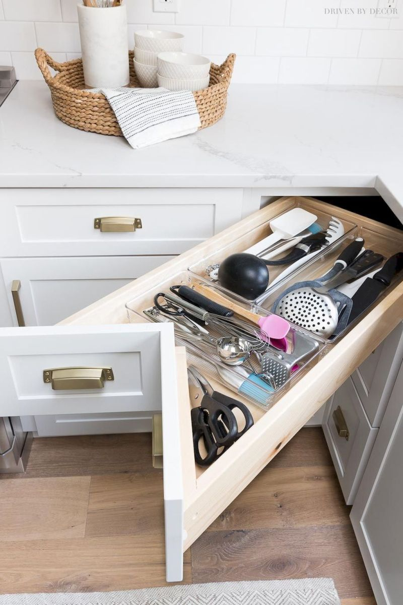 Inspiring Kitchen Organization and Storage Ideas to Make the Kitchen Looks Neater Part 30