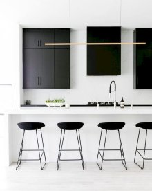 Kitchen Make Up with Minimalist Bar Stool Designs Part 15