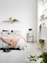 Relaxing Bedroom Feel with Natural Touch of Greenery Decorations Part 17