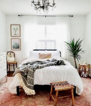 Relaxing Bedroom Feel with Natural Touch of Greenery Decorations Part 19