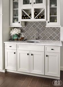 Stunning Kitchen Backsplash Ideas for Neutral Color Kitchen Designs Part 41