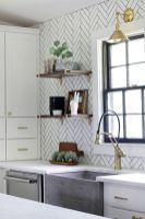 Stunning Kitchen Backsplash Ideas for Neutral Color Kitchen Designs Part 52
