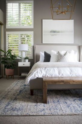 Warm Cozy Bedroom with Beautiful Rug Decoration Part 26
