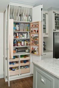 White Kitchen Pantry Organization in Practical Steps Part 52