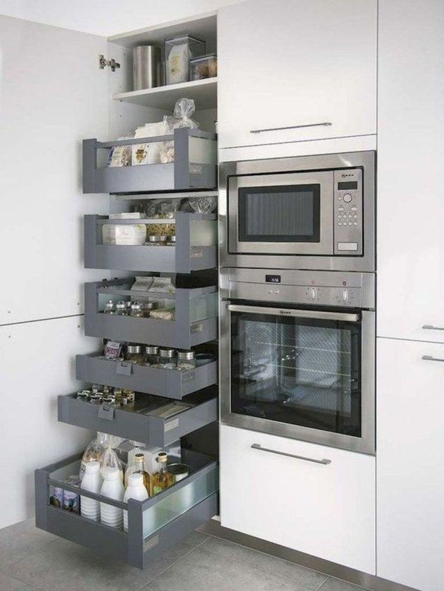 White Kitchen Pantry Organization in Practical Steps Part 57