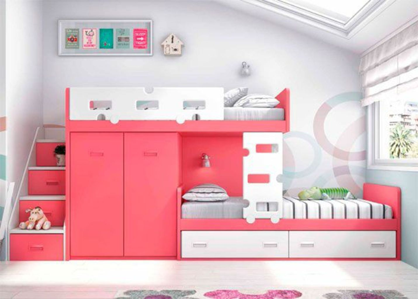 Delightful Bunk Bed Ideas For Dreamy Girl Rooms - Elonahome.com