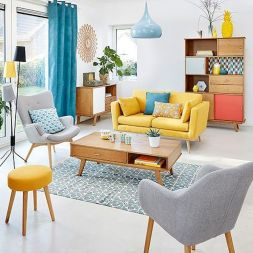 Amazing Interior Ideas in Blue and Yellow Decorations Part 20