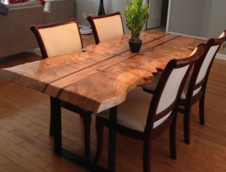 Amazing ideas of liveedge dining tables with more inspiration to liven up the dining rooms friendly and refreshing vibes Part 22