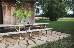 Amazing outdoor and garden paving ideas using flagstones Part 22