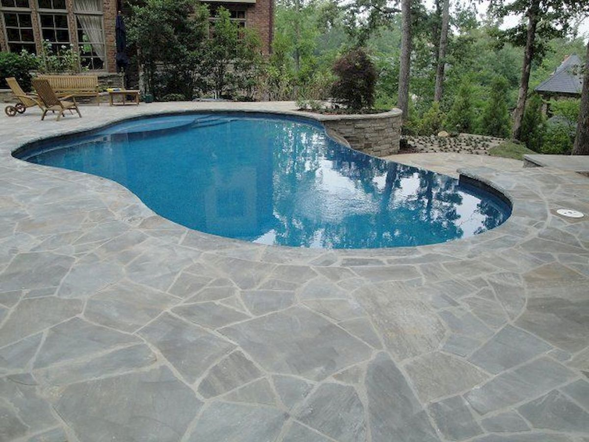 Amazing outdoor and garden paving ideas using flagstones Part 25