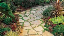 Amazing outdoor and garden paving ideas using flagstones Part 27