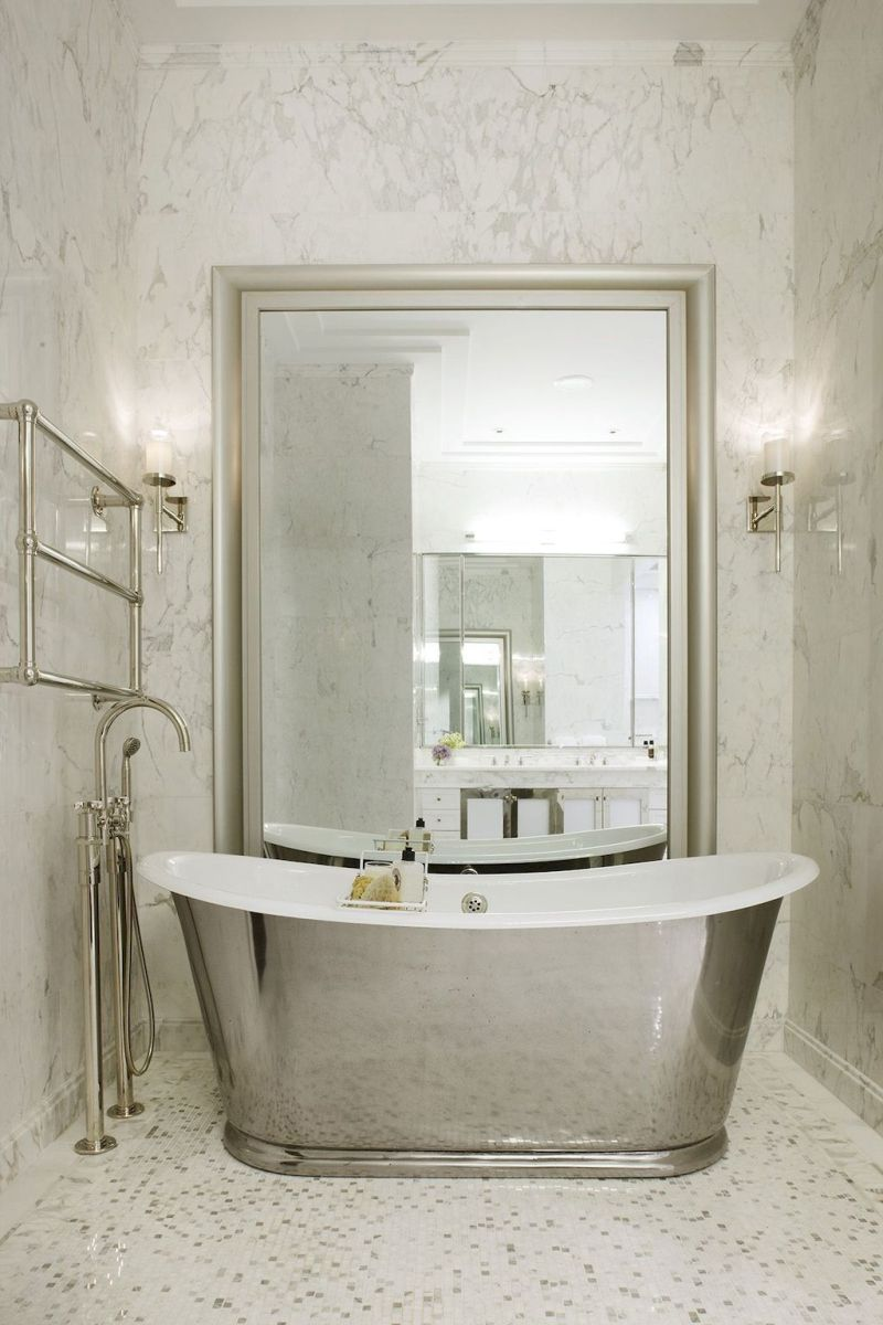Artsy bathtub ideas for classy bathroom designs Part 33