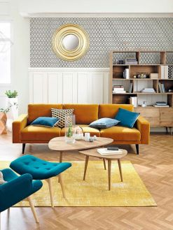 Best Blue Yellow Colors Mixing that Sparks Cheerful Interior Mood Part 15